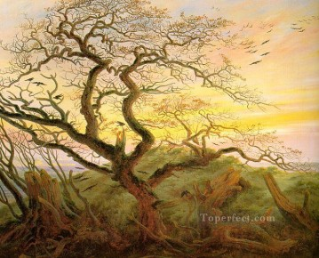 The Tree of Crows Romantic Caspar David Friedrich Oil Paintings